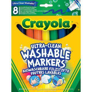 Lengvai nusiplaunantys flomasteriai Crayola, 8 sp.