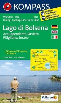 Lago di Bolsena (Acquapendente - Orvieto - Pitigliano - Sorano) 1 : 50 000