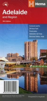 Adelaide & Region Handy Map  1 : 80 000 - 1 : 270 000
