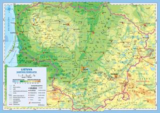 Lietuvos gamtinis ir administracinis žemėlapis (A3)